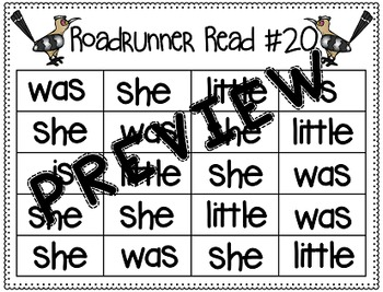 Sight Word Fluency Passage #20: SHE
