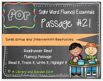 Sight Word Fluency Passage #21: FOR