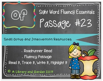 Sight Word Fluency Passage #23: OF