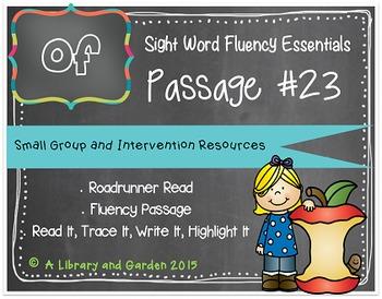 Sight Word Fluency Passage #23: OF