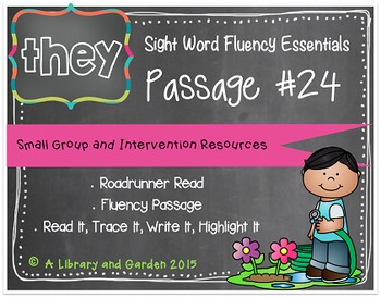 Sight Word Fluency Passage #24: THEY
