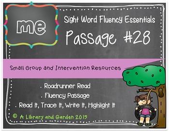 Sight Word Fluency Passage #28: ME