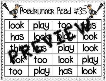 Sight Word Fluency Passage #35: LOOK