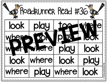 Sight Word Fluency Passage #36: WHERE