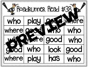 Sight Word Fluency Passage #38: WHO