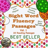 Sight Word Fluency Passages (intervention)-20 Leveled Passages-Vol. 1