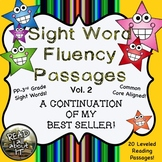 Sight Word Fluency Passages (intervention)-20 Leveled  Pas