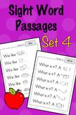 Sight Word Fluency Passages - Set 4