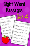 Sight Word Fluency Passages - Set 4
