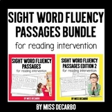 Sight Word Fluency Passages for Reading Intervention BUNDLE Distance Learning
