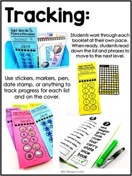 Sight Word Fluency Phrase Booklets