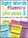 Sight Word Fluency Phrase Books 2