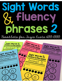 Sight Word Fluency Phrase Books 2