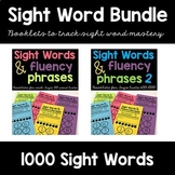 Sight Word Fluency Phrase Books Bundle