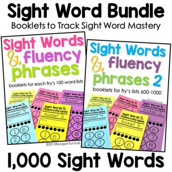 Sight Word Fluency Phrase Books Bundle