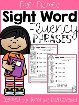 Sight Word Fluency Phrases (Set 1)