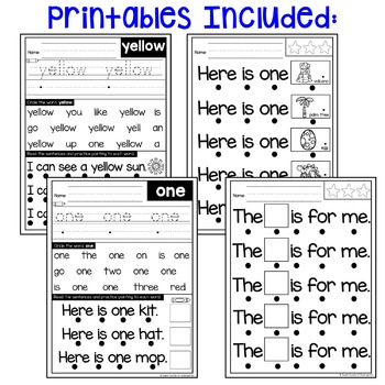 Sight Word Fluency Phrases {Track and Read Pre-Primer Volume 2}