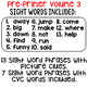 Sight Word Fluency Phrases {Track and Read Pre-Primer Volume 3}