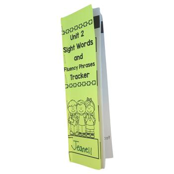Journeys Sight Words & Fluency Phrases Tracker Kindergarten Units 1-6