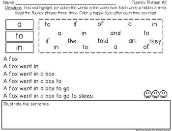Sight Word Fluency Practice 1 Fry Words 1-100