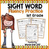Sight Word Fluency Practice - 1st Grade