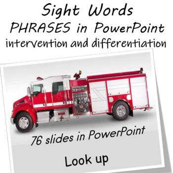 Sight Word Fluency Practice PowerPoint