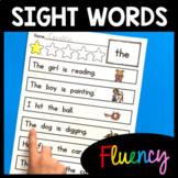 Sight Word Fluency Practice - Sight Words - Sentences - Reading Passages