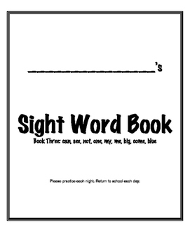 Sight Word Fluency Practice Book Sample (book 3)