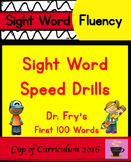Sight Word Speed Drills {Dr. Fry's First 100 Words}