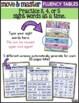 Sight Word Fluency Practice - EDITABLE | Sight Word Move & Master Fluency Tables