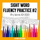 Sight Word Fluency Practice 2: Fry Words 101-200