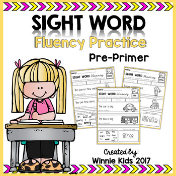 Sight Word Fluency Practice - Pre Primer