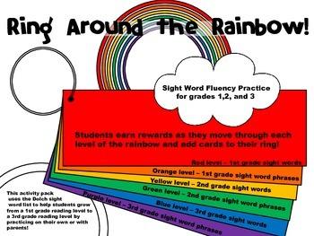 Phonics: Sight Word Fluency Practice - Read Around the Rainbow
