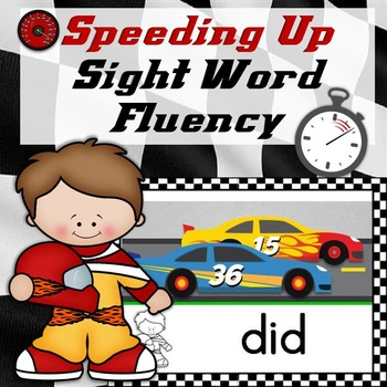 Sight Word Fluency Practice Race Cards & Activities Dolch Sight Words (Editable)