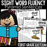 Sight Word Fluency Pyramid Sentences 1st Grade GOOGLE SLIDES/ DISTANCE LEARNING