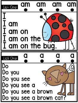 Sight Word Fluency Pyramid Sentences {List One}
