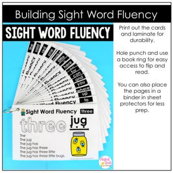 Sight Word Fluency (Pyramid Sentences) Pre-Primer Edition