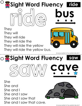Sight Word Fluency (Pyramid Sentences) Primer Edition