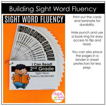 Sight Word Fluency (Pyramid Sentences) Second Grade Edition