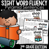 Sight Word Fluency Pyramid Sentences 2nd Grade GOOGLE SLIDES/ DISTANCE LEARNING