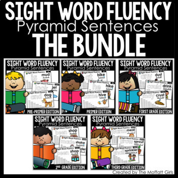 Sight Word Fluency (Pyramid Sentences) The Growing Bundle!