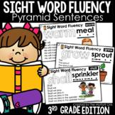 Sight Word Fluency Pyramid Sentences 3rd Grade GOOGLE SLIDES/ DISTANCE LEARNING