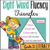 Sight Word Fluency Pyramids - Second Grade