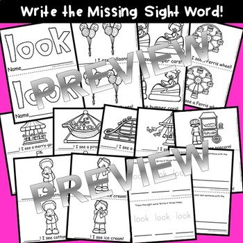 Sight Word Fluency Readers BUNDLE (him, into, time, has, look)