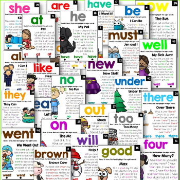 Sight Word Fluency Readers- Dolch Primer