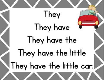 Sight Word Fluency Reads