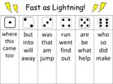 Sight Word Fluency Roll
