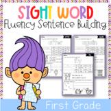 Sight Word Fluency Sentence Scramble (First Grade)