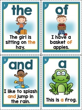 Sight Word Fluency Sentence Card Bundle(large and small cards together)