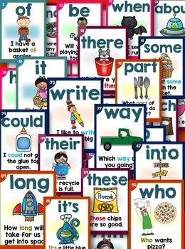 Sight Word Fluency Sentence Cards Bundle(Large Cards)